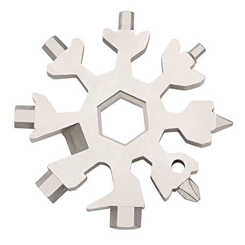 18 Inch Steel Snow - Amenitee 18-in-1 Snow Multi-Tool - Easy N Genius - FEX 18-in-1 Stainless Steel Snowflakes Multi-Tool (Standard, Stainless Steel)