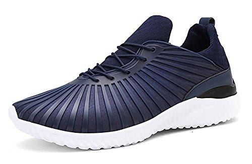 Auspicious beginning Men's Women's Comfy Anti-skid Shoes Trendy Lightweight Sneakers blue-ST