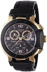 Tissot T-Race Rose-Gold PVD Black Rubber Strap Watch for Men T0484172705706