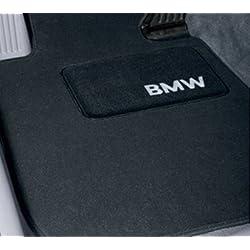 """""""BMW Genuine Black Floor Mats for E39 - 5 SERIES ALL MODELS SEDAN & TOURING (1995 - 2003), set of Four"""""""