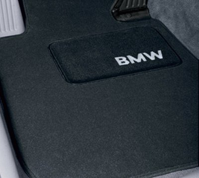 """BMW Genuine Black Floor Mats for E65 - 7 SERIES ALL MODELS & B7 ALPINA SEDAN (2000 - 2007), set of Four"""