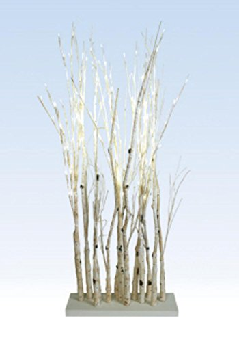 "48"" LED Lighted Enchanted Garden Standing Birch Branches Decoration - Warm White"