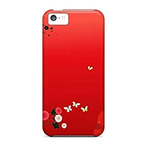 DaMMeke Iphone 5c Well-designed Hard Case Cover Aisian Red Protector