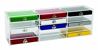 Heathrow Scientific HD159890B Acrylic Clear Storage Rack, 50-Place and 100-Place Microscope Slide Boxes