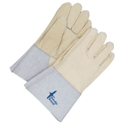 Beige Size 10 Bob Dale 60-1-1274-10 Premium Grain Leather Cowhide Utility Glove with Gauntlet Cuff