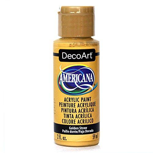 (DecoArt Americana Acrylic Paint, 2-Ounce, Golden Straw)