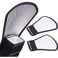 Sonia Mini Silver White Flash Diffuser Reflector for Camera Flash Bounce Card FBC007