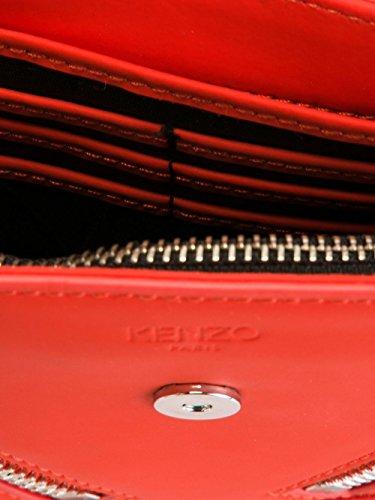 Kenzo Mujer F662SA109L2519 Rojo Cuero Bolso De Hombro