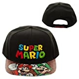Nintendo Super Mario Bros. Printed Vinyl Flat Bill Adjustable Hat