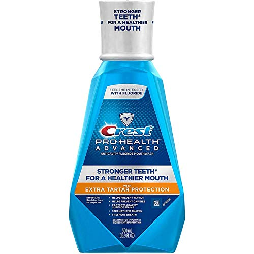 Crest Pro-Health Advanced Mouthwash with Extra Tartar Protection, Refreshing Mint 16.90 oz (Pack of -