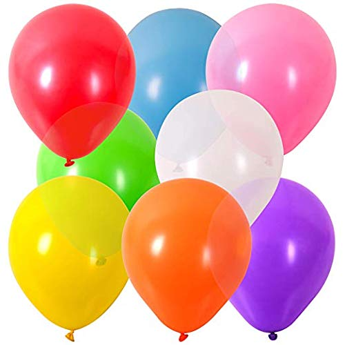 YCZTXSJT Party Balloons Rainbow Set, 100 Pieces 12 Inch Multi-Color Thick Matte Balloons, for Holiday Decorations, Birthday Parties, Wedding Decoration Balloons(Random Color)