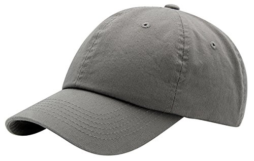 Top Level Baseball Cap for Men Women - Classic Cotton Dad Hat Plain Cap Low Profile, LGY Light Grey ()