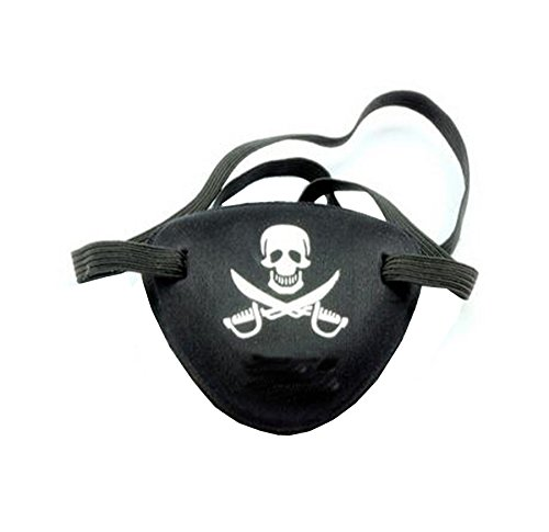 [WLC Funcy Skull Pirate Eye Patch Eye Mask for Halloween] (Halloween Costumes White Eyes)