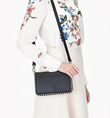 Black à à Sacs Main Totes Baguettes Bag Handle Couleur Sac GSHGA Messenger Nouveau Décontracté Rivets Sac Bandoulière Unie Top White Femme RwqzyB1tx