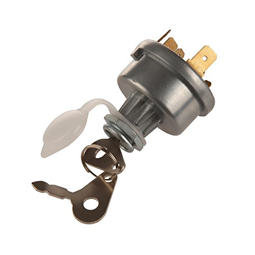 Midiya 3107556R92, K203992 Ignition Switch With 3 Position 6 Connection Terminals 2 Keys for Lucas, David Brown,Backhoe Loader,Massey Ferguson John Deere Car, Tractor,Trailer, agriculture