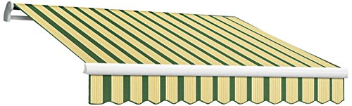 Manual Maui Retractable Awning (Awntech 10-Feet Maui-LX Manual Retractable Acrylic Awning, 96-Inch Projection, Forest Green/Tan Multi Colored)