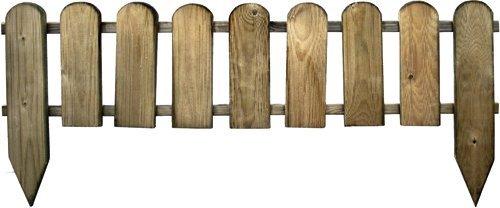 STACCIONATA IN LEGNO di pino cm 110x3, 2x28/45H - IMPREGNATO - recinto inglese PAPILLON
