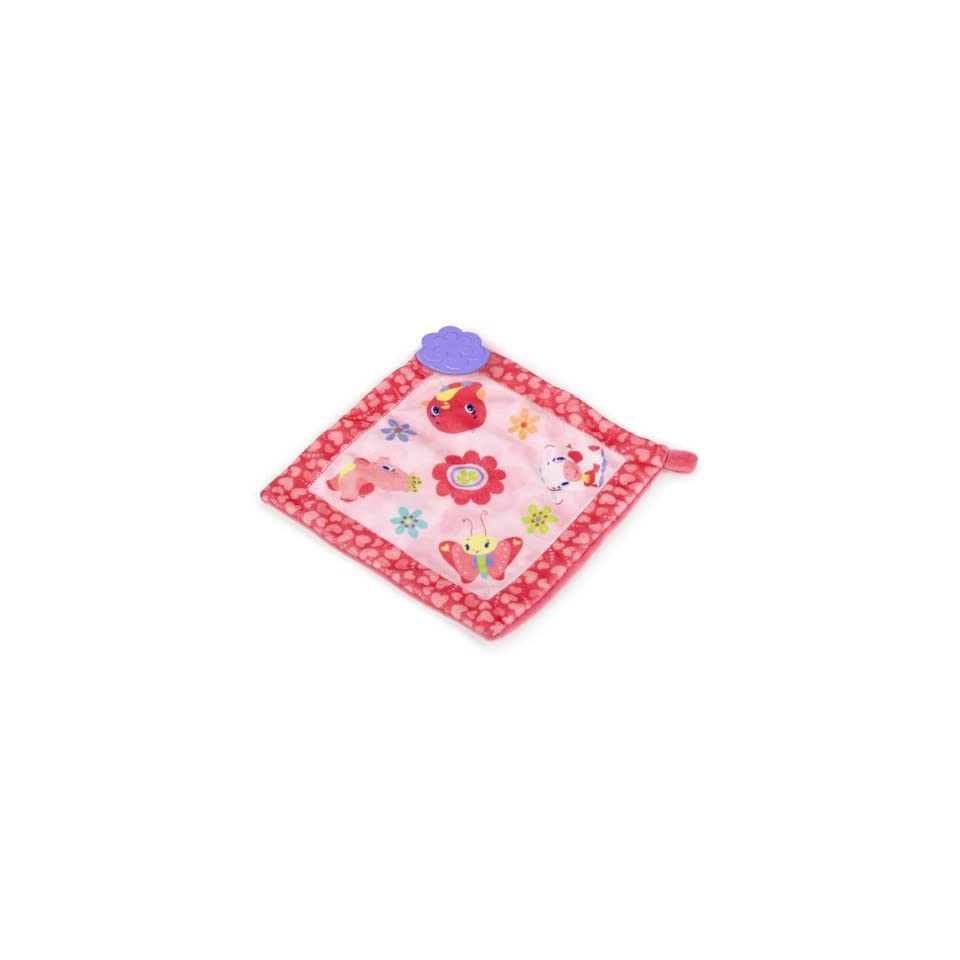 Bright Starts Teethe and Bloom Blankie. Pretty and Pink Baby Blanket