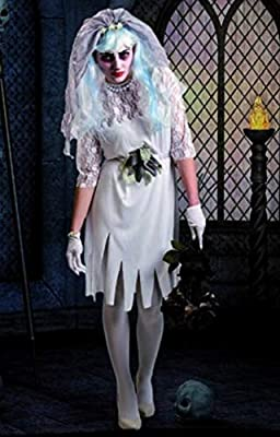 Disfraz de Novia Cadáver de mujer para Halloween: Amazon.es ...