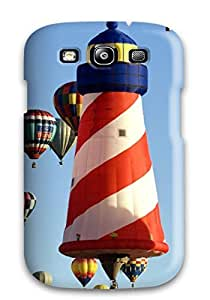 Galaxy S3 QcmbrJP1513PUraT Balloons Rising Above The Albuquerque Skyline At The007 Albuquerque Balloon Fiesta Tpu Silicone Gel Case Cover. Fits Galaxy S3