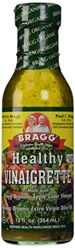 Bragg, Organic Vinaigrette Dressing, 12 oz (Olive Oil And Apple Cider Vinegar Salad Dressing)