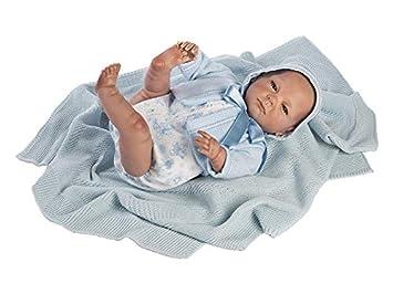 Amazon.es: Berbesa Muñeca Reborn 52 cm. Vestido Pelele Azul ...