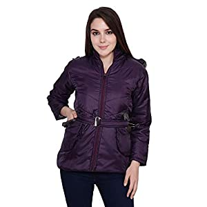 My Swag Women's Hooded Full Sleeves Winter Wear Quilted Jacket
