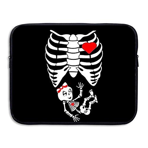 BANA Custom Full Maternity Skeleton Shock-Resistant Laptop Sleeve Cover Bag 13 Inch