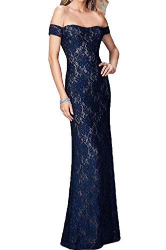 Promkleid Linie Dunkelblau Damen Schulter Etui Festkleid von Abendkleid Ab Spitze der Ivydressing Liebling Partykleid vnfqxOq8