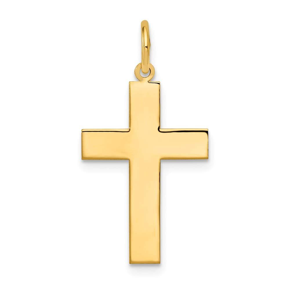 Mia Diamonds 14k Yellow Gold Polished Cross Pendant