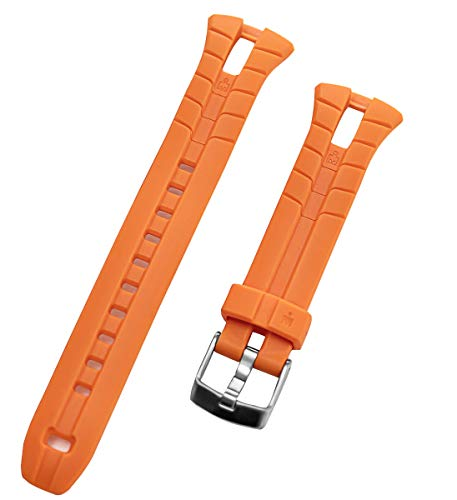 TIMEX Men's Ironman Triathlon 50-Lap T5K220 WR 100m Orange Original Replacement Watch Band