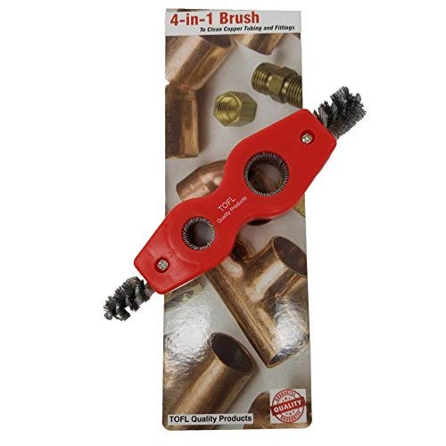 Copper Pipe Cleaner a 4-In-1 Plumber Brush Tested and Proven by Plumbers To Prepare Pipes To Solder by TOFL by TOFL (Image #2)