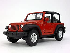 Amazon.com: Welly Jeep Wrangler Rubicon 4.25 Inch Diecast Model Toy ...