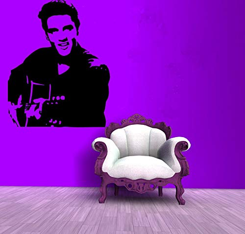 - Wall Decals Decor Elvis Presley Decal-Rock Decal-Music Stiker Guitars-Legend-Home Decoration Stickers Vinyl Sticker-Bar Sticker-Custom-Room Decor LD53