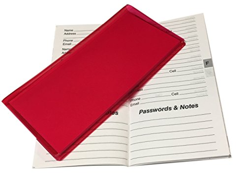 Checkbook Size Password Address Book 100 by WINGS Craft & Fundraising Supply