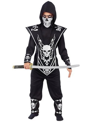 Fun World Skull Lord Ninja Child Costume Black