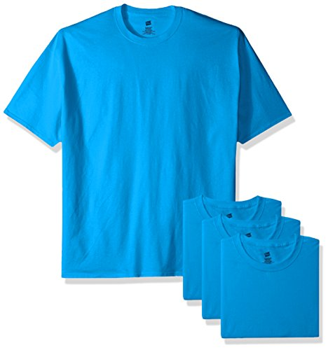 Hanes Men's ComfortSoft T-Shirt (Pack Of 4), Sapphire, Medium