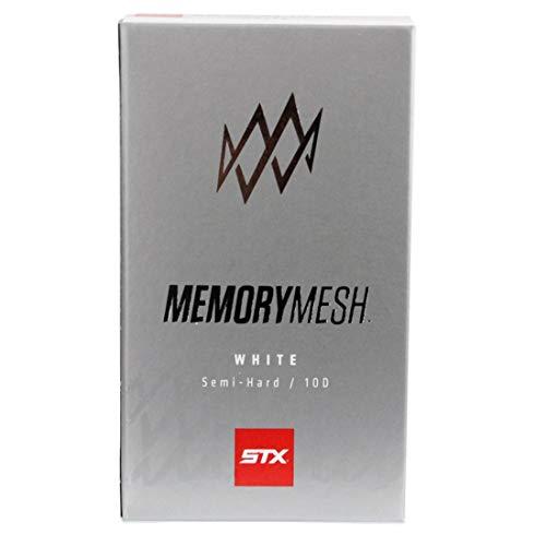 STX Lacrosse 10D Memory Mesh Packet, Attack/Midfield/Defense, White