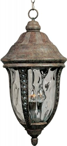 Whittier Hanging - Three Light Earth Tone Water Glass Glass Hanging Lantern 3111WGET