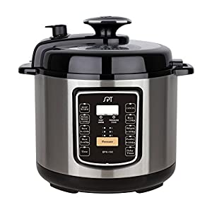 SPT EPC-13C 6.5-Quart Stainless Steel Electric Pressure Cooker with Quick Release Button 8