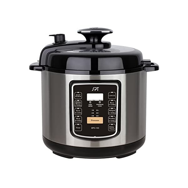 SPT EPC-13C 6.5-Quart Stainless Steel Electric Pressure Cooker with Quick Release Button 1