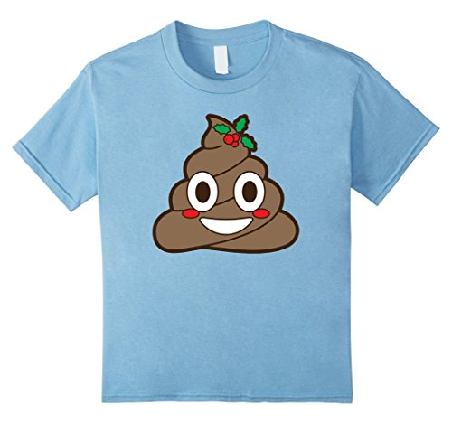 Kids Poop Emoji Mistletoe Christmas Winter Holiday Xmas T-Shirt 10 Baby (Mistletoe Emoji)