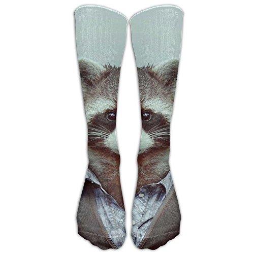 YISHOW Animals Dressed Like Humans Ferret Unisex Knee High Long Socks Athletic Sports Tube Stockings For (Ferret Soccer Ball)