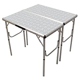 Coleman Pack-Away 4-in-1 Adjustable Height Folding Camping Table