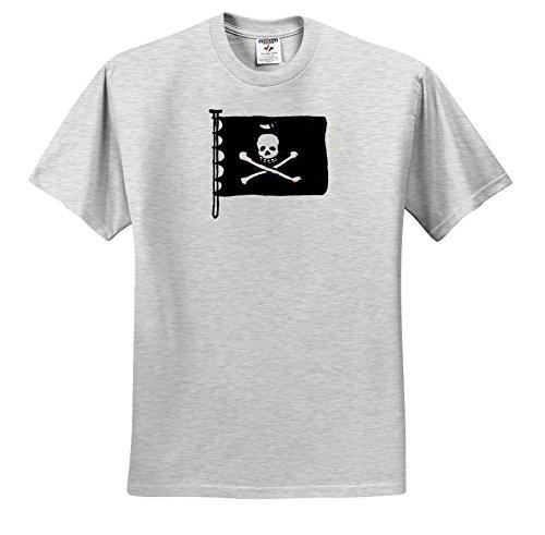 tdswhite pirates pirate ship black flag t