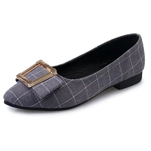 Asakuchi sexy puntiagudos zapatos planos en verano/ zapatos de mujer de corte de bajo con estilo y cómodo A