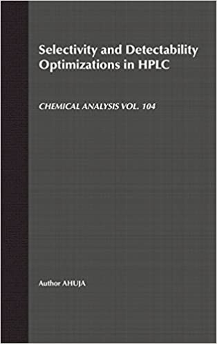 Selectivity and Detectability Optimizations in HPLC (Chemical Analysis: A Series of Monographs on Analytical Chemistry and Its Applications) 1st Edition