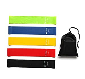 5 Piece of Yoga Resistance Band Exercise Ring Exercise Belt Suitable for Home Fitness Physiotherapy