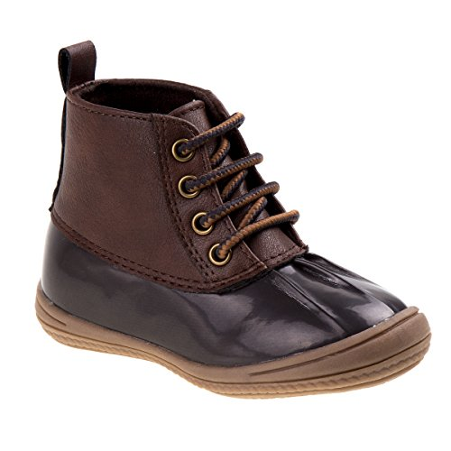 JOSMO Baby Luke Fashion Boot, Brown Patent/Brown, 7 Medium US Toddler