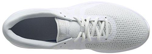 white Running Bianco 4 Uomo pure Nike Revolution 100 Scarpe Eu Platinum 7Sw0q4